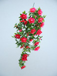 3 x Artificial Rose-Pink Double Trailing Busy Lizzie Plants for Hanging Baskets & Pots - made from the same tough and long lasting material as the popular boxwood topiary balls and UV treated for outdoor or indoor use.