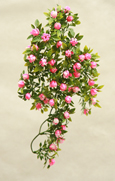 3 X Artificial Pink Shades Trailing Begonia Bud Plants for Hanging Baskets & Pots - made from the same tough and long lasting material as the popular boxwood topiary balls and UV treated for outdoor or indoor use.