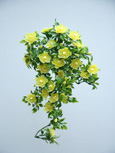 3 X Artificial Soft Lemon Double Trailing Busy Lizzie Plants for Hanging Baskets & Pots - made from the same tough and long lasting material as the popular boxwood topiary balls and UV treated for outdoor or indoor use.