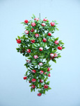 3 X Artificial Red & Cream Trailing Begonia Bud Plants for Hanging Baskets & Pots - made from the same tough and long lasting material as the popular boxwood topiary balls and UV treated for outdoor or indoor use.
