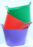The ORIGINAL Tub Trug Buckets. Flexible 14 Litre  ORIGINAL Tub Trug Buckets in a Set of Three Colours
