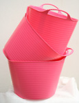 The ORIGINAL Tub Trug Buckets. Flexible 14 Litre  ORIGINAL Tub Trug Buckets in Baby Pink