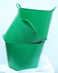 The ORIGINAL Tub Trug Buckets. Flexible 14 Litre  ORIGINAL Tub Trug Buckets in Hunter Green