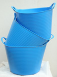 The ORIGINAL Tub Trug Buckets. Flexible 14 Litre  ORIGINAL Tub Trug Buckets in Ocean Blue