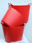 The ORIGINAL Tub Trug Buckets. Flexible 14 Litre  ORIGINAL Tub Trug Buckets in Post Box Red